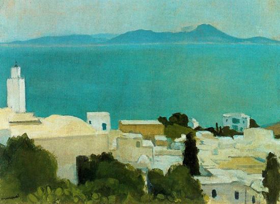 Albert Marquet. The minaret at Sidi Bou saïd