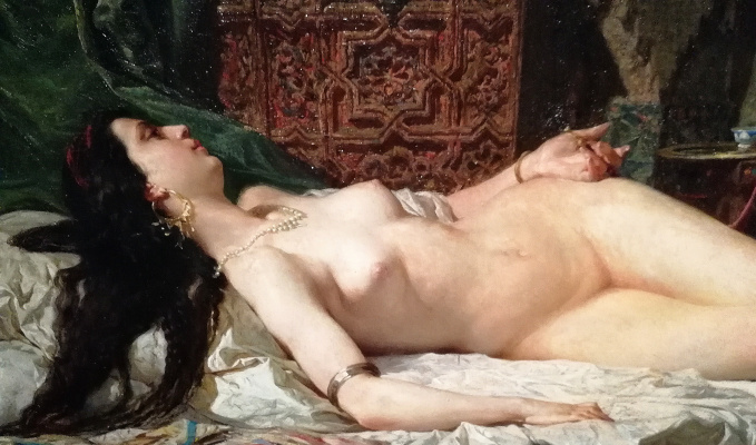 Mariano Fortuni-i-Carbo. Odalisque (detail)