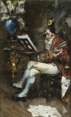 Giovanni Boldini. Mandolin Musician