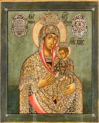 Icon Painting. Mother of God Ilinskaya Chernigovskaya