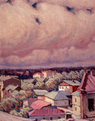 Николай Григорьевич Бурачек. City rooftops