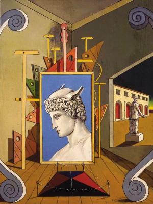 Джорджо де Кирико. Метафизический интерьер с головой Меркурия