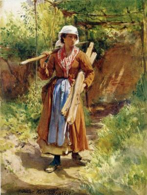 Оскар Кокошка. Цыганская девушка