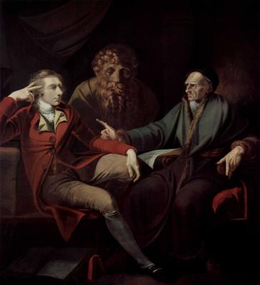 Johann Heinrich Fuessli. Conversation with the artist Johann Jakob Baderom