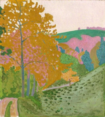 Autumn landscape, Oswald
