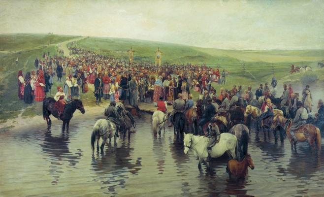 Илларион Михайлович Прянишников. Спасов день на севере. 1887