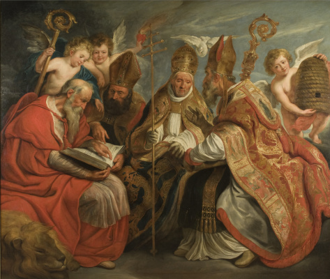 Jacob Jordaens. Four fathers of the Latin Church