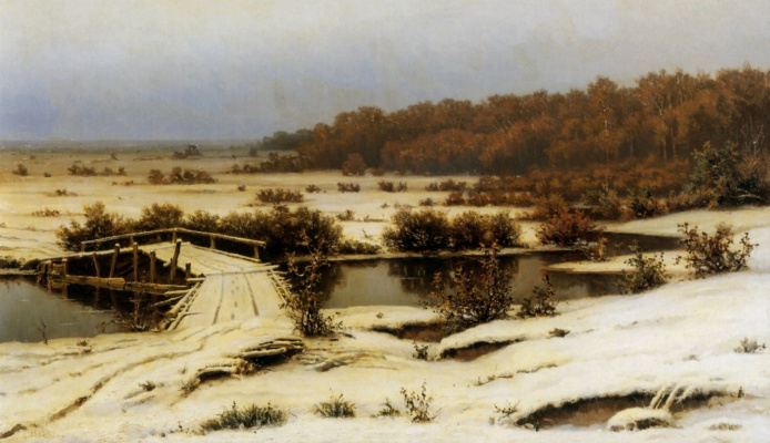 Efim Efimovich Volkov. Early snow