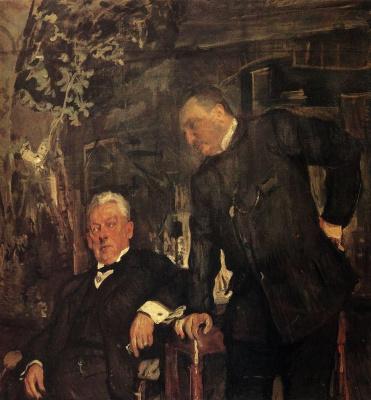 Valentin Aleksandrovich Serov. Portrait artists A. P. Lensky and A. I. Yuzhin