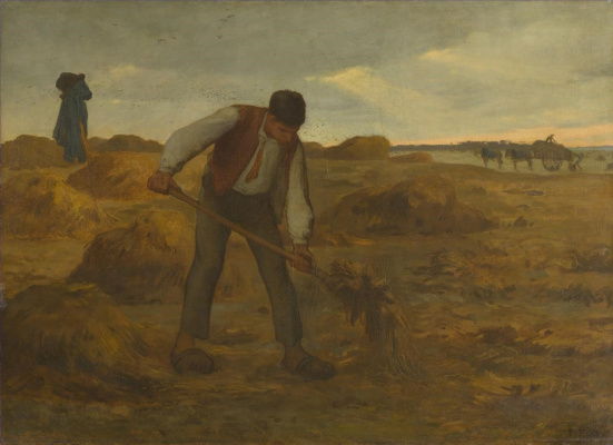 Jean-François Millet. Peasant spreading manure