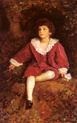 John Everett Millais. The honourable John nevile in red