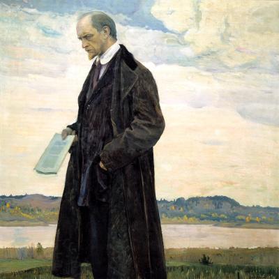 Mikhail Vasilyevich Nesterov. The thinker (Portrait of Ivan Ilyin)