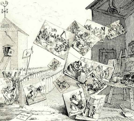 William Hogarth. Battle of the paintings