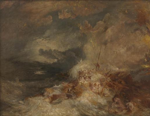 Joseph Mallord William Turner. Disaster at sea