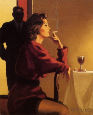 Jack Vettriano. Someone sidelit for me