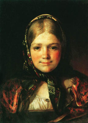 Василий Максимович Максимов. Крестьянская девочка. 1865