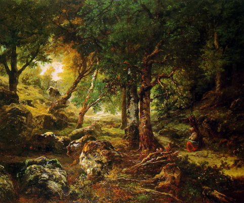 Theodore Rousseau. Forest landscape