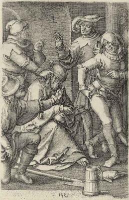Lucas van Leiden (Luke of Leiden). The Mockery Of Christ