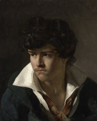 Théodore Géricault. Portrait of a young man with an open collar
