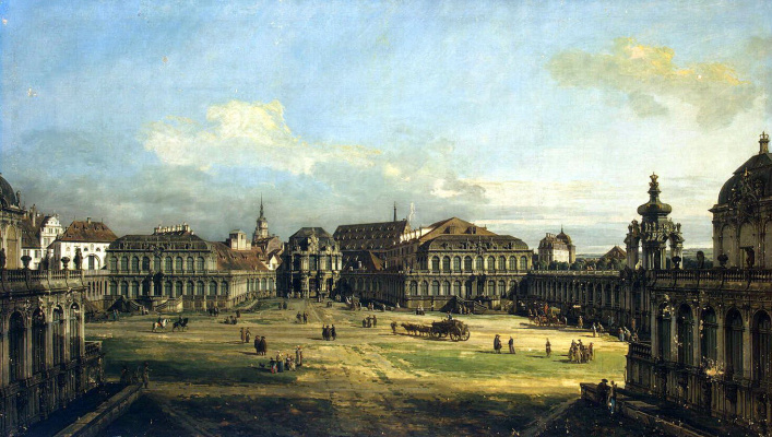 Bernardo Bellotto. The Zwinger in Dresden