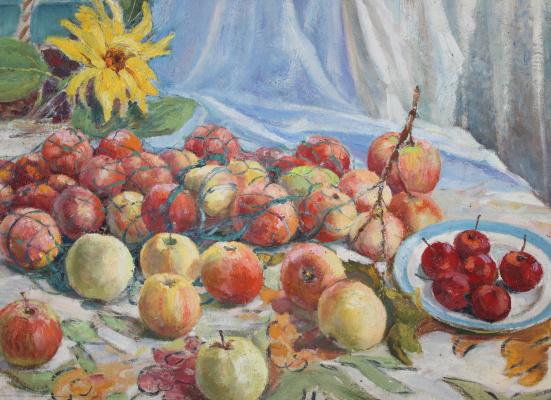 Vasily Fadeevich Demin. Still life with apples