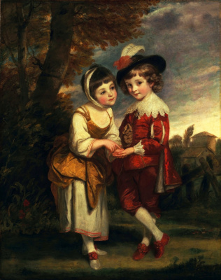 Joshua Reynolds. The young fortune teller. Lord Henry Spencer and lady Charlotte Spencer