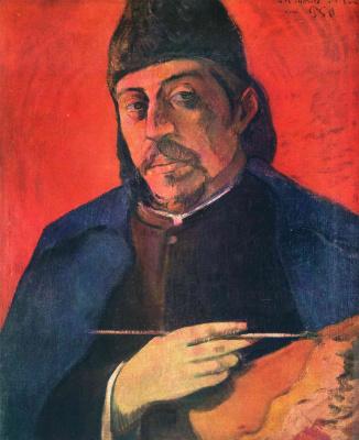 Paul Gauguin. Self-portrait with palette