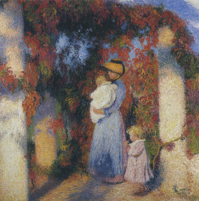 Henri Martin. Mother and child