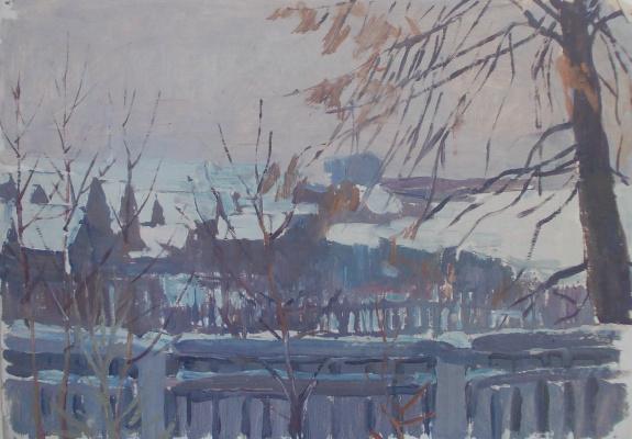 Nina Vasilievna Sedova. Rural park fence