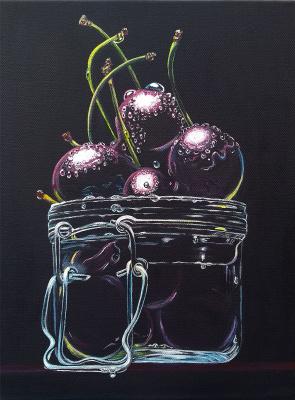Tatyana Nikolaevna Feoktistova. Ripe sweet cherries