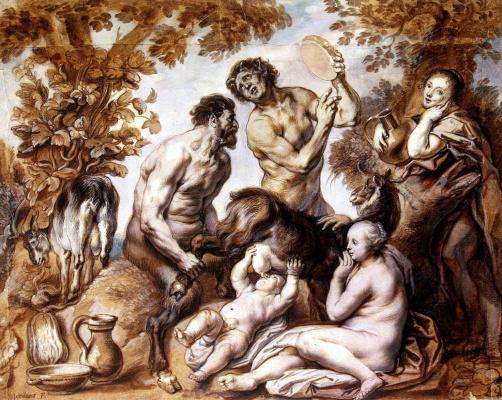 Jakob Jordaens. Infant Jupiter fed by the goat Amalthea