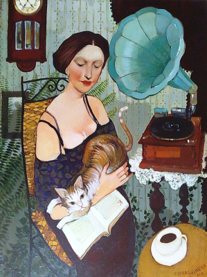 Otar Imerlishvili. A girl with a book