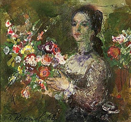 Порфирий Никитич Крылов. Женщина с цветами