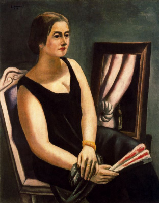 Max Beckmann. Woman with a fan