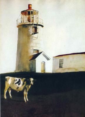 Jamie Wyeth. The lighthouse on the island