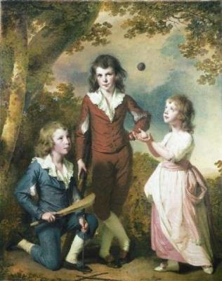 Joseph Wright. Children in the woods