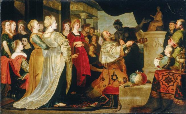 Cornelis de Vos. Idolatry of king Solomon. 3-I kings