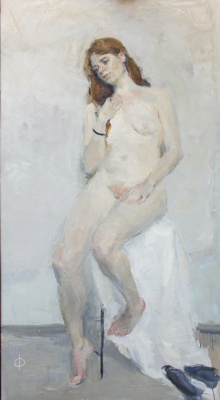 Samir Rakhmanov. Nude on White