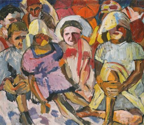 Aristarkh Vasilyevich Lentulov. Children with umbrellas