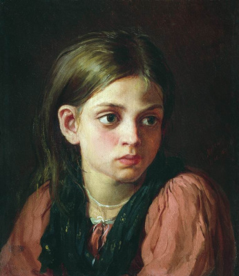 Василий Максимович Максимов. Девочка. 1866