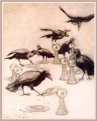 Arthur Rackham. The Seven Ravens