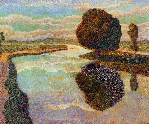 Ян Туроп. Пейзаж с видом на канал