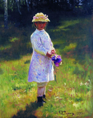 Girl with a bouquet (Vera Repina)