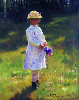 Ilya Efimovich Repin. Girl with a bouquet (Vera Repina)