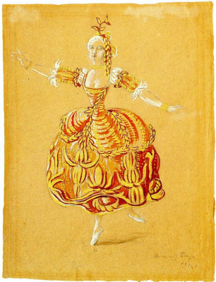 Alexander Nikolaevich Benoit. Sketch dresses