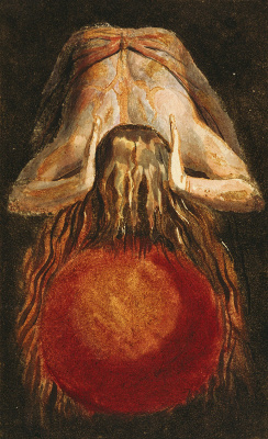 William Blake. The first book Urizen. Enitharmon and the globe of life blood