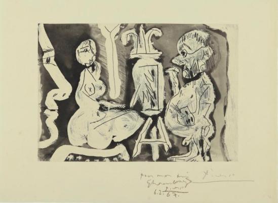 Пабло Пикассо. Художник и его модель