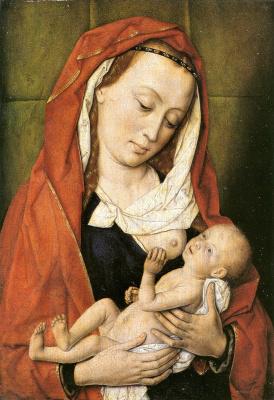 Дирк Баутс. Мадонна с младенцем. между 1455 и 1460