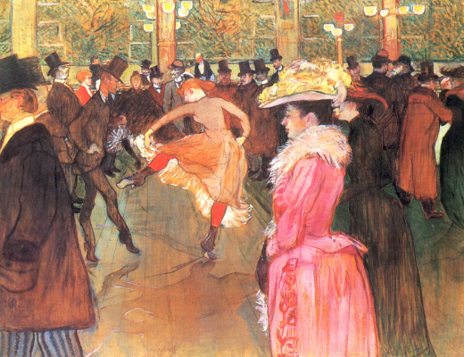 Henri de Toulouse-Lautrec. Dancing at the Moulin Rouge