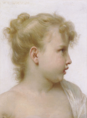 William-Adolphe Bouguereau. Sketch of a little girl
